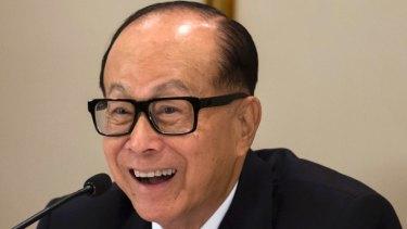 Hong Kong's richest man Li Ka-shing.