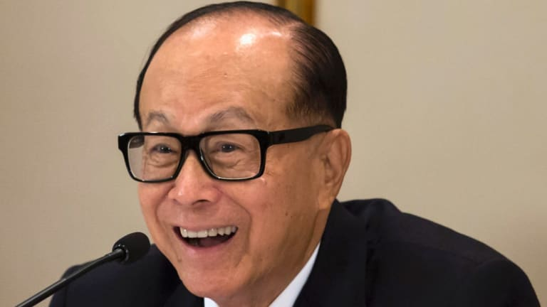 Hong Kong's richest man Li Ka-shing.