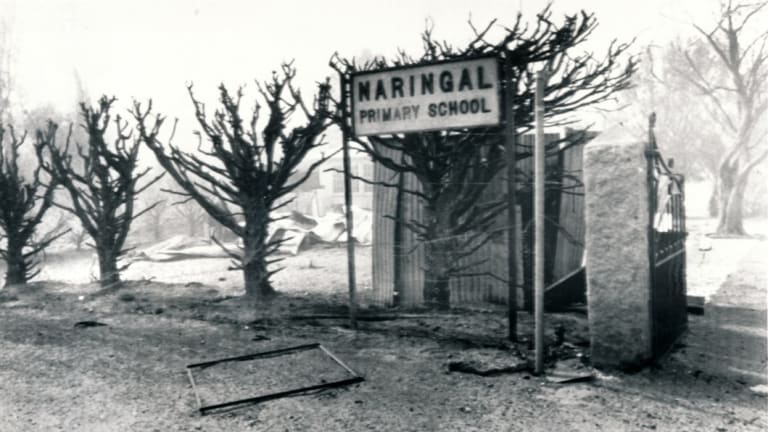 Naringal Primary School, near Warrnambool, was burnt to the ground on Ash Wednesday in 1983.