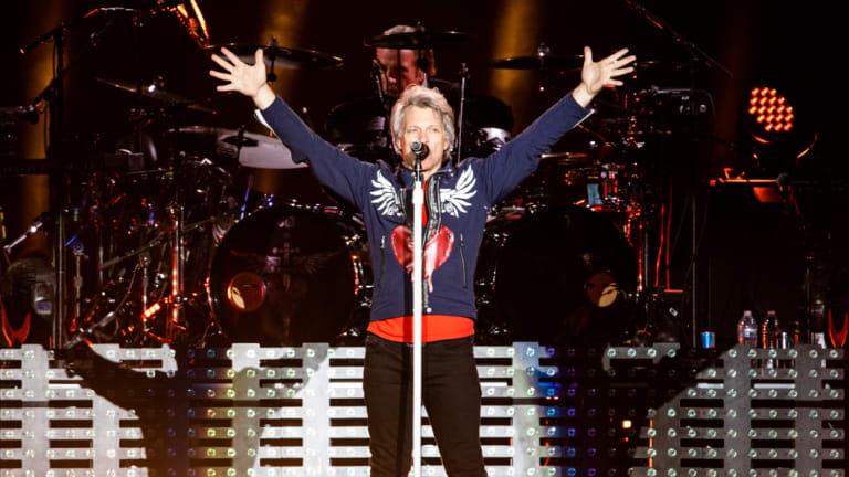 Bon Jovi at Suncorp Stadium on Thursday night.