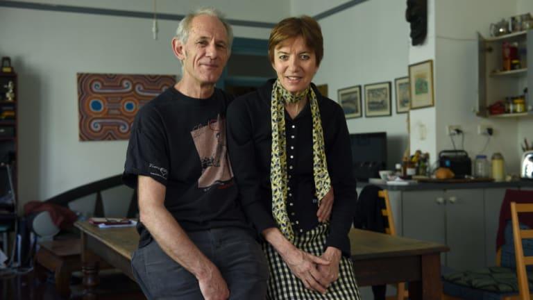 Liz Jackson with her husband Martin Butler in November, 2016.