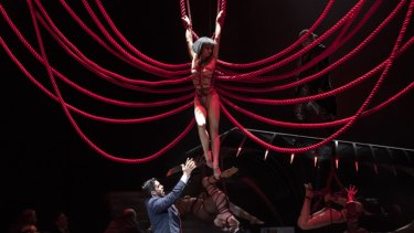 The new production of Madama Butterfly employees the skills of Japanese bondage ropes in the stage design.