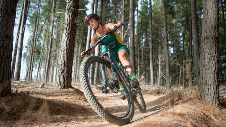 Australian cross triathlon athlete Penny Slater.