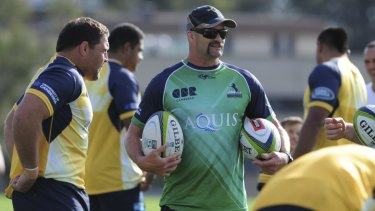Tightening up: Brumbies defence coach Peter Ryan has left the club.