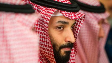 Saudi Crown Prince Mohammed bin Salman, who the CIA believes was responsible for journalist Jamal Khashoggi's murder.
