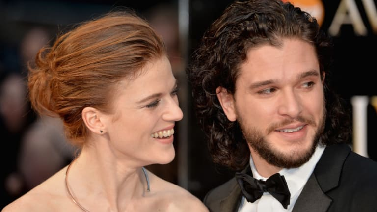 Game of Thrones stars Rose Leslie and Kit Harington.