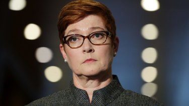 Foreign Minister Marise Payne has reaffirmed Australia's ban on Huawei from broadband and 5G.