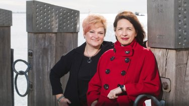 Business in Heels co-founders Jo Plummer (L) and Lisa Sweeney.