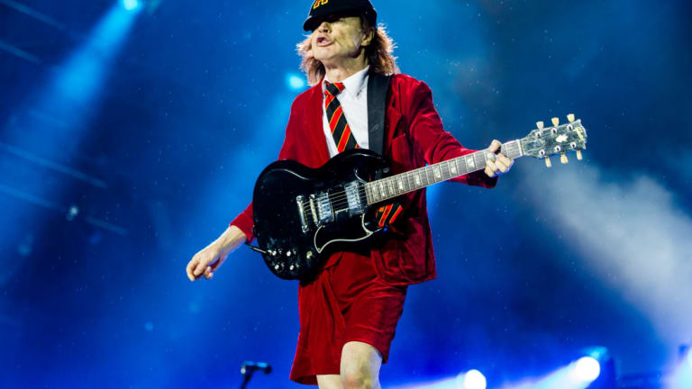 Guitarist Angus Young of AC/DC.