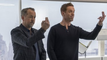 David Costabile and Damian Lewis in <i>Billions</i>, a show made by 10's owner CBS but screening exclusively on Stan.