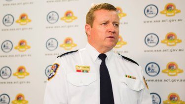 Emergency Services Agency commissioner Dominic Lane, who will announce an early start to the ACT bushfire season on Tuesday.