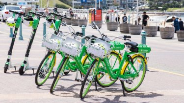 Lime launched with electric bikes in November. Scooters will next be trialed in Manly.