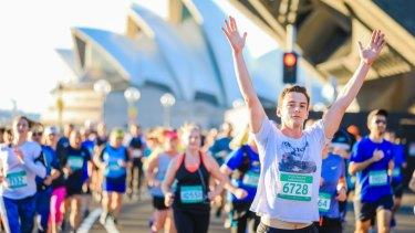 More than 10,000 runners took part in the event.
