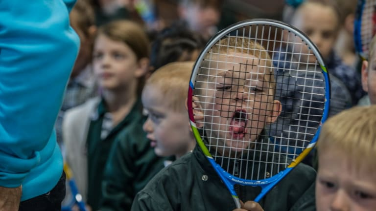 Tennis participation in schools boomed to 15,000 in Canberra this year.