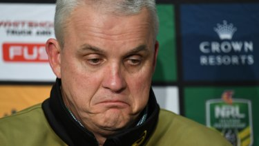 Gone: Panthers coach Anthony Griffin has been sacked a month out from the NRL finals.