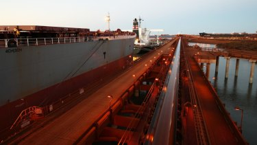 Port Hedland harbour.