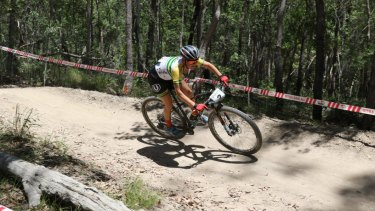 Canberra mountain bike cross country racer Rebecca McConnell (nee Henderson).