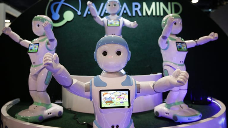 AvatarMind's iPal companion robots were displayed at last year's event.