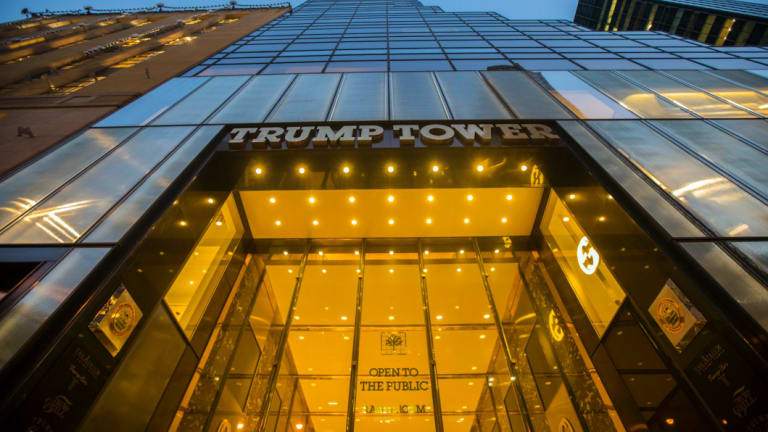 No Braille here: The Trump Tower.