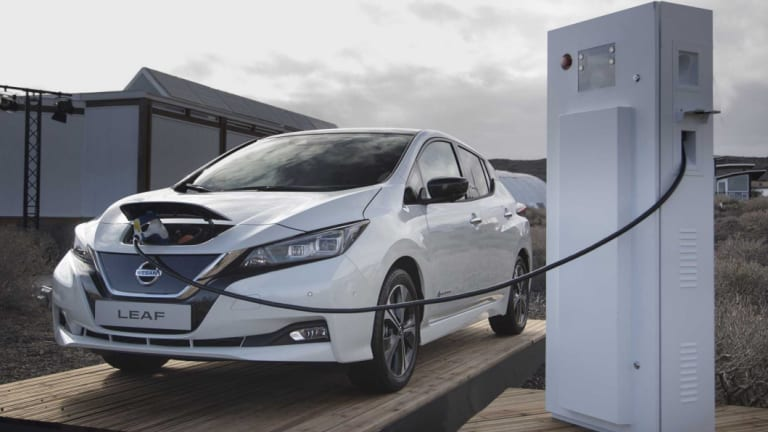 Going with the flow: Nissan's new Leaf comes with bi-directional charging capacity, making it potentially a mini, mobile power station.
