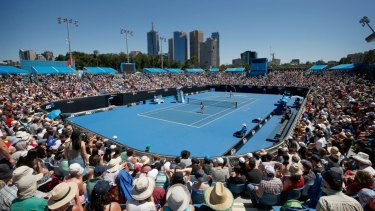 The Australian Open attracted a total crowd of about 700,000.