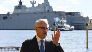 Former Prime Minister Malcolm Turnbull ruled out Garden Island as a cruise ship terminal site, saying it would remain a naval base.
