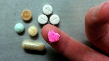 Ecstasy tablets.
