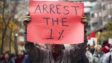 The Occupy movement that started in 2011 centred on wealth inequality.