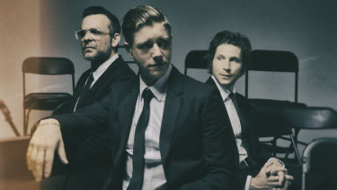 Interpol: Sam Fogarino, Paul Banks and Daniel Kessler.