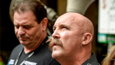CFMMEU leaders John Setka and Shaun Reardon appear at the Magistrates Court on blackmail charges.