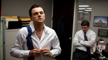 Leonardo DiCaprio, left, and Kyle Chandler in The Wolf of Wall Street.