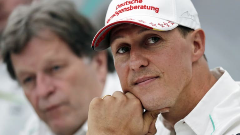 Milestone: As his 50th birthday nears, the condition of Michael Schumacher - seen here in 2012 - has remained extremely private.