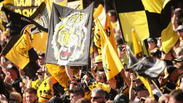 Calling the Tiger Army: Coach Damien Hardwick wants noise on Sunday.