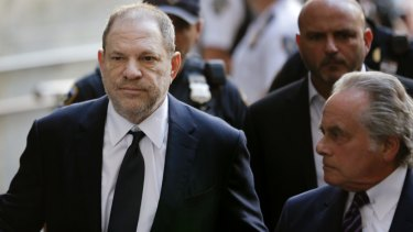 Harvey Weinstein denied criminal sexual assault on women at a court in New York in 2018.