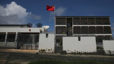 The Chinese embassy in Port Vila.