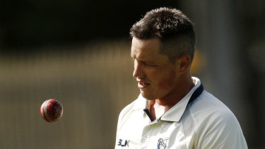 Trailing: Chris Tremain, Victoria's player of the season last season, took three wickets for Australia A.