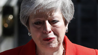 British Prime Minister Theresa May will step down on June 7.