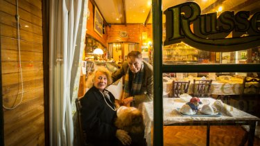 Lola Russell and George Dixon in the Old Corner Shop in 2017.