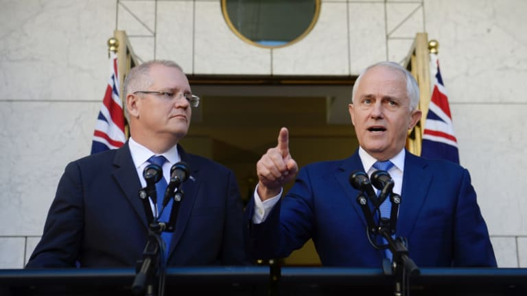 Malcolm Turnbull and Scott Morrison pictured in November, announcing royal commission into the bank sector.