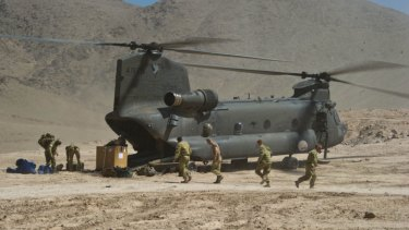 Australian soldiers on a combat service support mission in Uruzgan Province, Afghanistan.