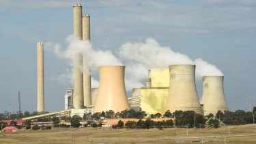 AGL's Loy Yang A brown coal-fired power station in Victoria's Latrobe Valley.