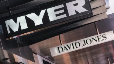 Traditional department stores Myer and David Jones continue to do it tough.