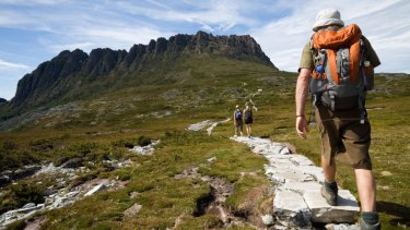 Part of the Overland Track in Tasmania.
