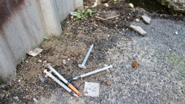 Some Richmond laneways are still littered with drug paraphernalia.