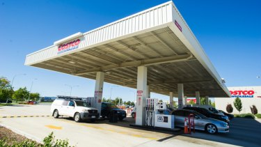 Petrol is Costco's biggest seller in Canberra and across the nation.