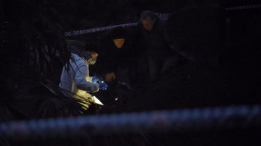 Jubelin (centre, in black beanie) worked tirelessly in the search for Matthew Leveson's body.