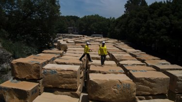 The sandstone extracted from the site will also go towards restoring heritage buildings in Sydney.