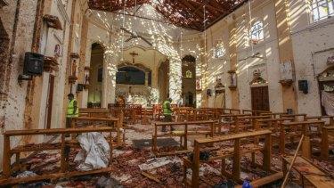 At least 110 people were killed at St Sebastian's Church, one of several bomb blasts across Sri Lanka on Easter Sunday.