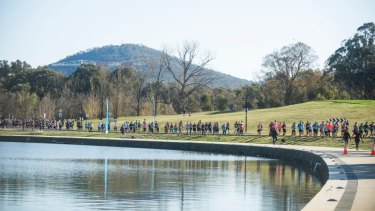 About 4000 people took part in Sunday's fun run.