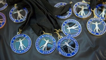 To the winners, the medals.